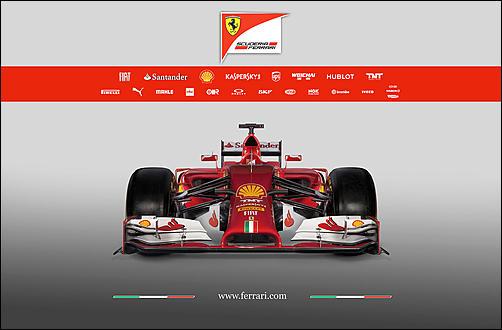 F1 2014, calendario presentazioni nuove monoposto-f14t-frontview-jpg