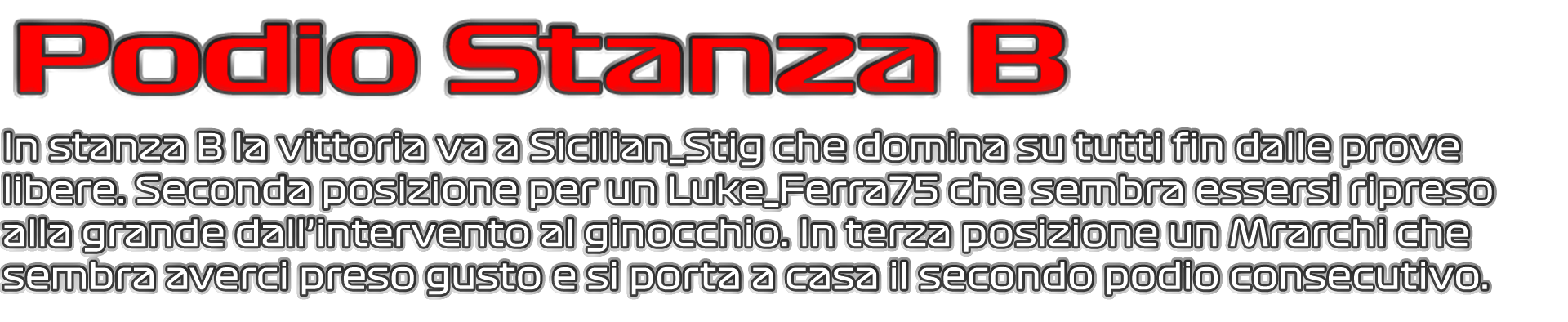 Garetta stasera random GT6-podio-stanza-png